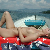 Naked In The Boat - Blonde Hair, Naked Girl, Nude Amateur