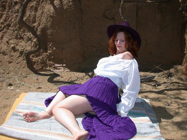 Pic #4 - Buxomgirl38e in a purple corset!