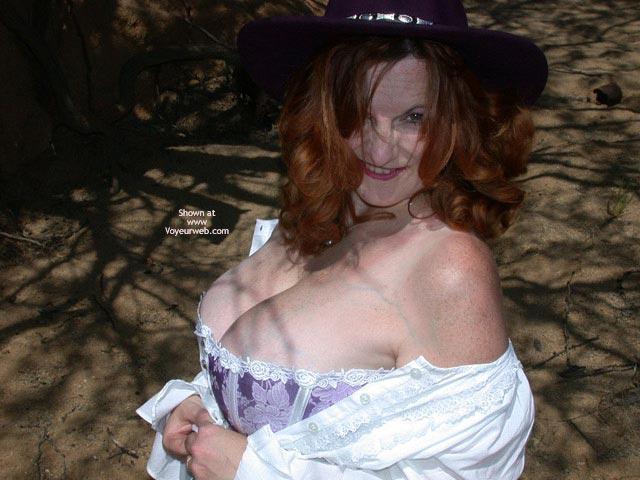 Pic #7 - Buxomgirl38e in a purple corset!