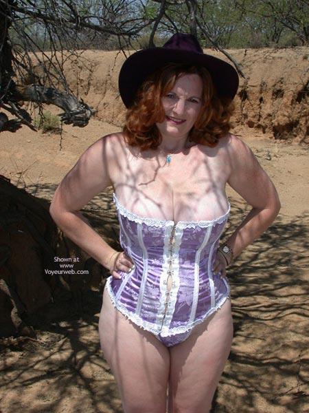 Pic #8 - Buxomgirl38e in a purple corset!