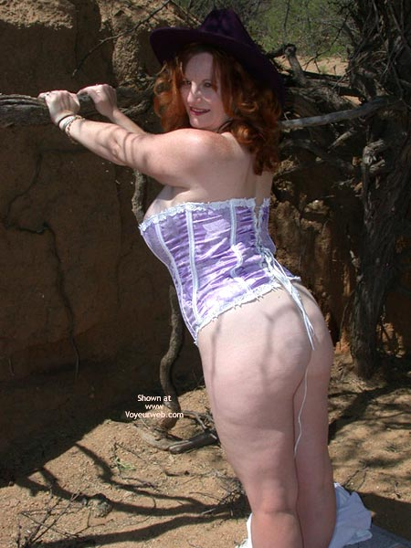 Pic #3 - 2nd Half Of Buxomgirl In A Purple Corset!