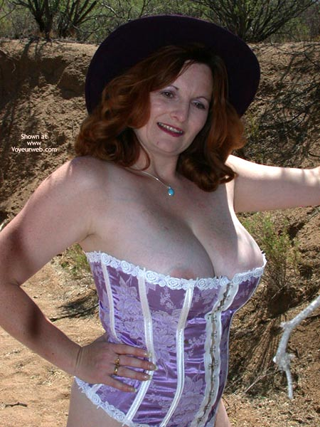 Pic #4 - 2nd Half Of Buxomgirl In A Purple Corset!