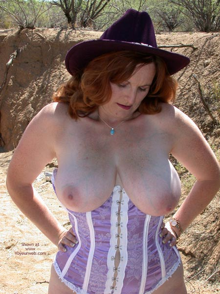 Pic #6 - 2nd Half Of Buxomgirl In A Purple Corset!