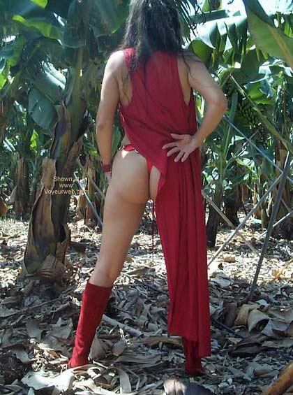 Pic #4 - Red Lingerie in a Banana Plantation!!
