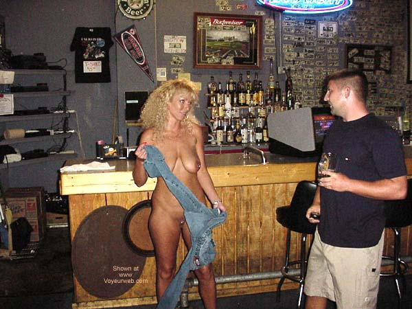 Pic #6 - Alysha Nude In A Sports Bar