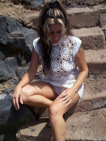 Pic #6 - Upskirt Lacy Panties and See Thru Dress