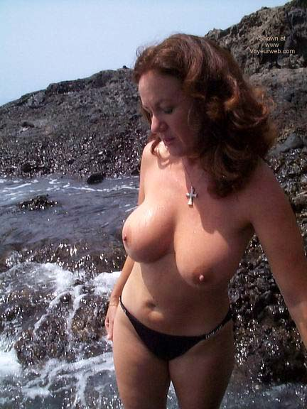 Pic #10 - Black PVC Catsuit On The Beach!!