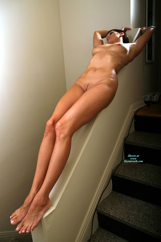 Pic #1 - Very Long Legs - Black Hair, Landing Strip, Long Legs, Natural Tits, Naked Girl, Nude Amateur, Sexy Legs , Naked By The Stairs, Medium Brown Areolas, Curvy Body, Nude On Stairs, Medium Firm Breasts, Totaly Nude