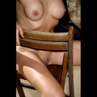 Peekaboo Smooth Pussy. - Big Tits, Erect Nipples, Long Legs, Perky Tits, Shaved Pussy, Naked Girl, Nude Amateur