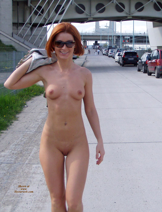 Pic #1 - Nude Redhead On The Road - Erect Nipples, Nude In Public, Red Hair, Shaved Pussy, Small Tits, Sunglasses, Naked Girl, Nude Amateur , Petite Figure Wearing Sunglasses, Nice Curvy Hips And Shaved Pussy, Flat Stomach With Medium Boobs, Short Red Hair, Nice Small Tits With Erected Nipples, Slender Build Naked In Public, Short Red Hair And Handful Boobs