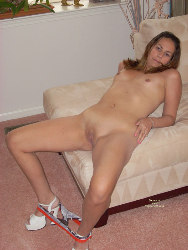 Naked girls panties around ankles socks can