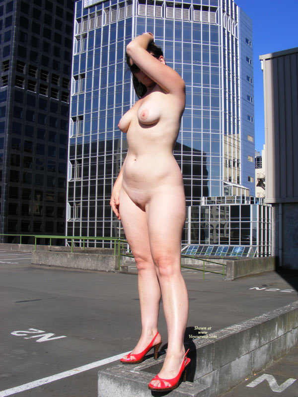 Pic #1 - Nude MILF In Car Park - Heels, Milf, Nude In Public, Nude Outdoors, Pale Skin, Naked Girl, Nude Amateur , Pale Skin, Rooftop Nude In High Heels, Full Nude Quarter Profile, Red Heels, Public Nudity, Standing Nude In Public Setting, White Milf Body, Surrounded By City Buildings