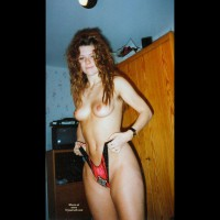Girlfriend Standing Topless - Long Hair, Red Hair, Small Tits, Topless