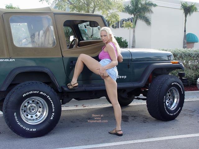 Pic #3 - Nicki At A Mall Car Show