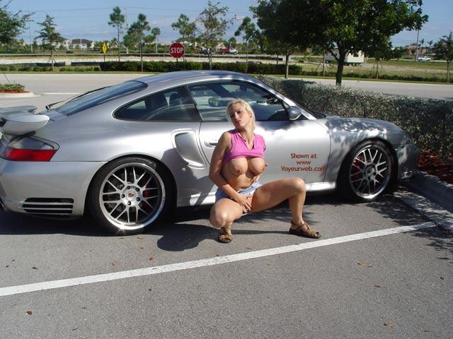 Pic #6 - Nicki At A Mall Car Show