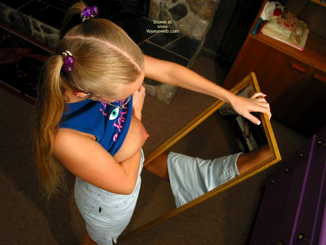 Pic #4 - Brittney Examines Herself In Mirror