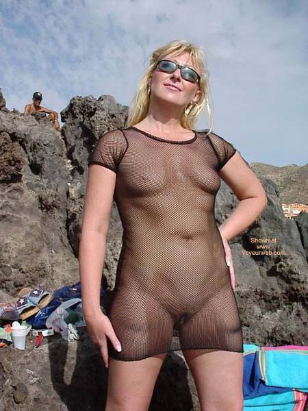 Pic #2 - See Thru Dress On Swingers Beach