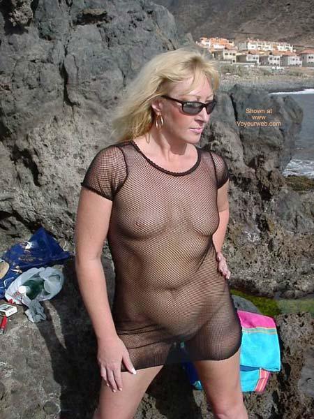 Pic #4 - See Thru Dress On Swingers Beach
