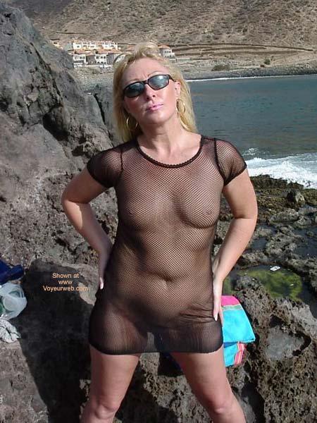 Pic #5 - See Thru Dress On Swingers Beach