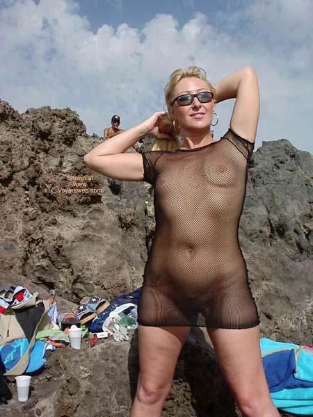 Pic #6 - See Thru Dress On Swingers Beach