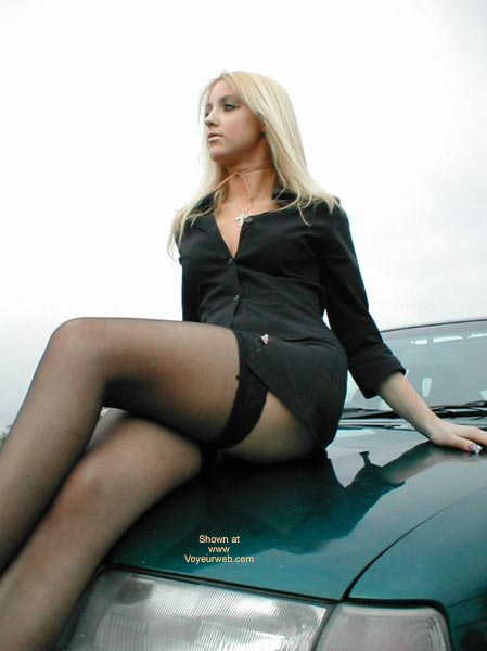 Pic #3 - Sexy Blonde Spread OverCar