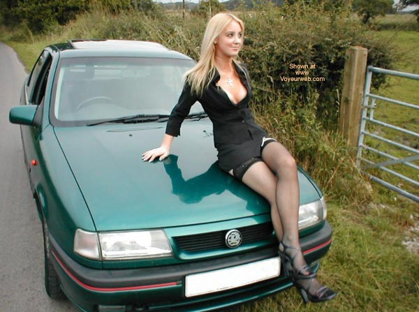 Pic #4 - Sexy Blonde Spread OverCar