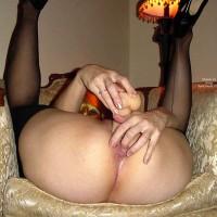 Eroticlegs Fucking Herself In Black Stockings