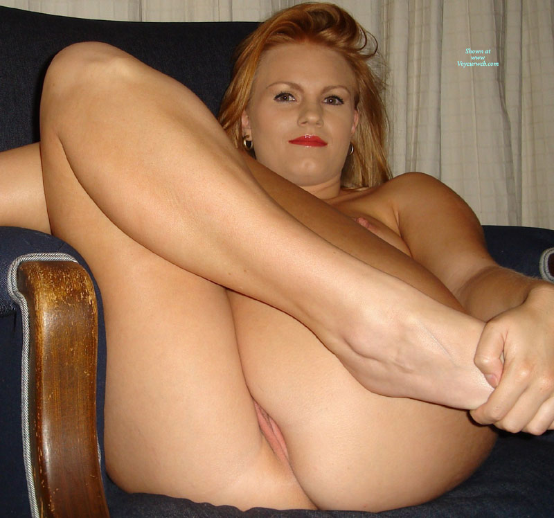 Pic #1 - Milf's Pussy Peeks While Sitting With Legs Pulled Up - Blonde Hair, Milf, Shaved Pussy , Sitting Legs Up, Indoor Ass And Pussy, Strawberry Blond Hair, Peeking Pussy, Peek A Boo, Indoors On Chair, Naked On Chair, Sexy Milf Shot, Dark Eyes Red Lips, Shaven Pussy Peeking From Butt