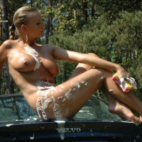 Car Wash Naked - Blonde Hair, Large Breasts, Milf, Naked Girl, Nude Amateur