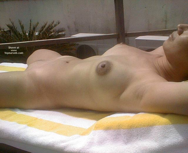 Pic #5 - Asian Dyna Sunbathing Nude