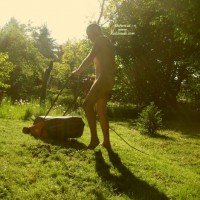Naked Lawnmowing