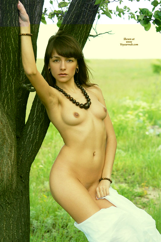 Pic #1 - Tits And Arm Pit - Brown Hair, Brunette Hair, Navel Piercing, Small Tits , Slender Body, Belly Button Piercing, Small Tits Outdoor, Brown-eyed Beauty, Petite Perky Breasts, Slender Torso, Flowing Brown Hair