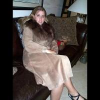 21 yo Having Fun In Leather/Fur