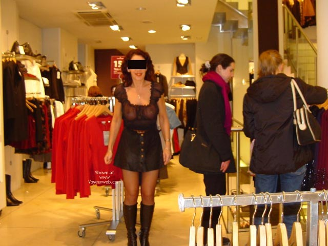 Pic #7 - Monique in Paris, France 3, Flashing And Shopping