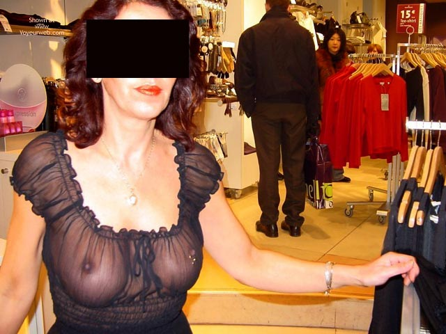 Pic #8 - Monique in Paris, France 3, Flashing And Shopping