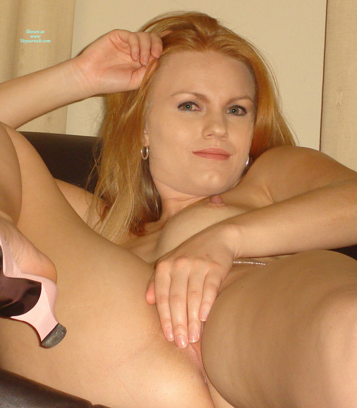 Pic #1 - Covering Pussy With Hand - Hard Nipple, Long Hair, Red Hair , Hiding The Pink, Pretty Face, Reclined Redhead, Showing One Boob, Waist Chain, Close-up Looking At Camera, Large Nipples, Thick Nipples, Waxed Pussy, Long Nipples, Long Red Hair