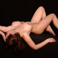 Nude Laying On Black Velvet - Big Tits, Erect Nipples, Natural Tits, Naked Girl, Nude Amateur