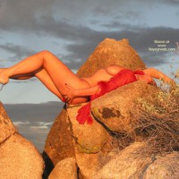 Girl Outdoors On Rocks - Artistic Nude
