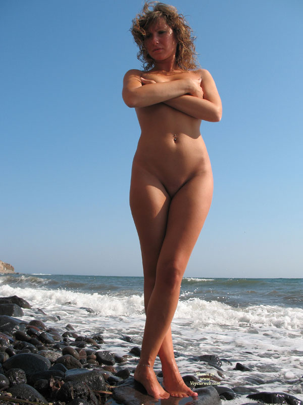 Pic #1 - Standing In Nature - Blonde Hair, Brown Hair, Navel Piercing, Shaved Pussy, Naked Girl, Nude Amateur , Curly Blonde Hair, Tanned Athletic Body, Full Frontal, Nude, Covered Breasts, In The Surf, Medium Wavy Brown Hair, Arms Folded Across Breasts, Bellybutton Piercing