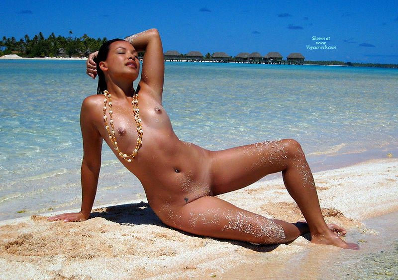 Pic #1 - Asian Girl Naked On Tropical Beach - Naked Girl, Nude Amateur , Semi Reclining, Arm Behind Head, Beach, Babe And Blue Sky, Tropical Paradise, Sandy, South Seas, Posing On The Beach, Native, Naked On Beach, Frontal Nude Reclining At Surf Edge, Fully Nude, Nude Beach