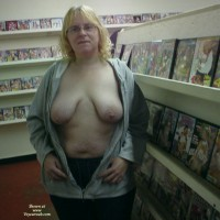 Florida Mom Flashing In Adult Video Store