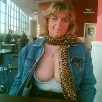 Nipples Out In Burger King!