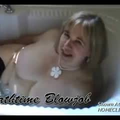 Bathtime Blowjob