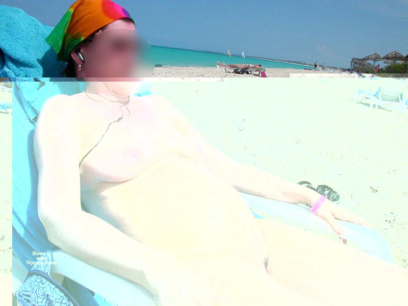 Pic #1 - Nude Beach , Wife Enjoying Sun & Sand