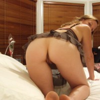 Bare Ass And Crotch Upshot - Brown Hair, Camel Toe, Doggy Style, Long Hair, Pussy From Behind