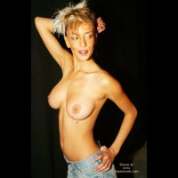 Skinny Blonde Show Breast - Topless Blonde, Sexy Body