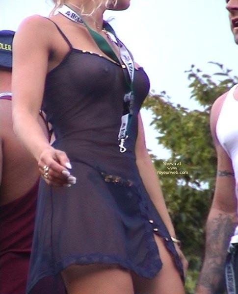 Pic #1 - See Through Black Dress , See Through Black Dress, Seethough Dress, Pert Tits