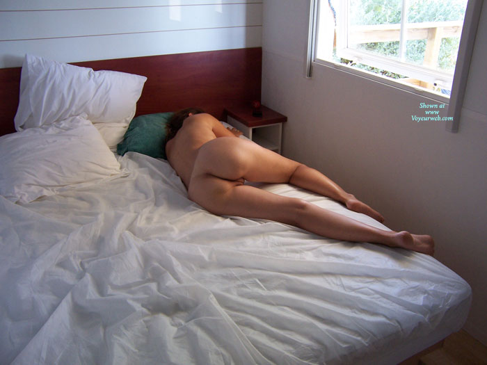 Sleeping wife ass and feet