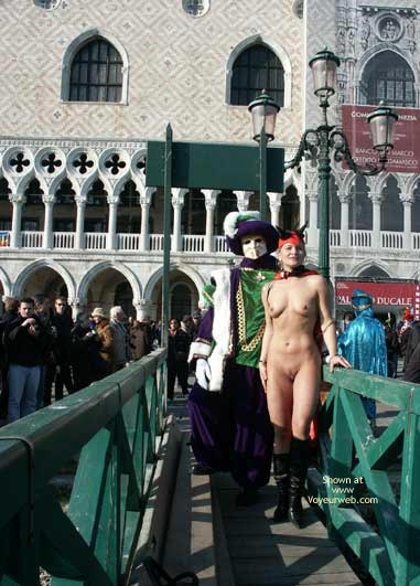 Pic #1 - Naked Devil Outdoors - Nude Outdoors , Naked Devil Outdoors, Naked Devil Outdoor Street Fair, Naked Costume Devil Outdoors