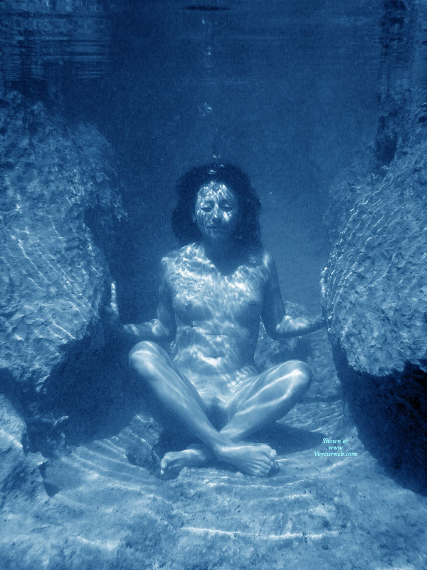 Woman In Yoga Pose At Bottom Of The Water - Landing Strip, Small Breasts, Naked Girl, Nude Amateur , Water Nymph, Nude Sitting On Lake Floor, Nude Sitting On Bottom Of Ocean, Looks Like Meditation, Underwater Nude, Underwater Nude Yoga, Mermaid
